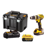 DeWalt DCD795M2 18V XR Brushless Compact Lithium-Ion Combi Drill with 2x 4Ah Batteries & Case from Duotool.