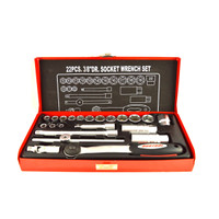 """N-Durance 22 Piece 6 Point 3/8"""" Drive Socket Set from Toolden."""
