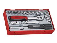 Teng TT3819 19 Piece Reg Metric Socket Set 3/8 Drive