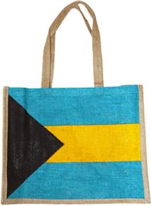 Bahamas Flag Burlap Bag