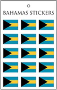 Bahamas Flag Stickers