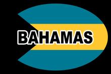 Bahamas Oval Bumper Sticker