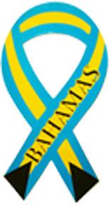 Bahamas Ribbon Car Magnet