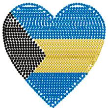 Iron-on Rhinestone Applique - Heart