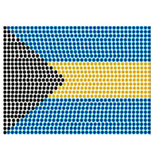 Iron-on Rhinestone Applique - Flag
