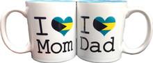 I Love Mom and Dad Patriotic Mugs