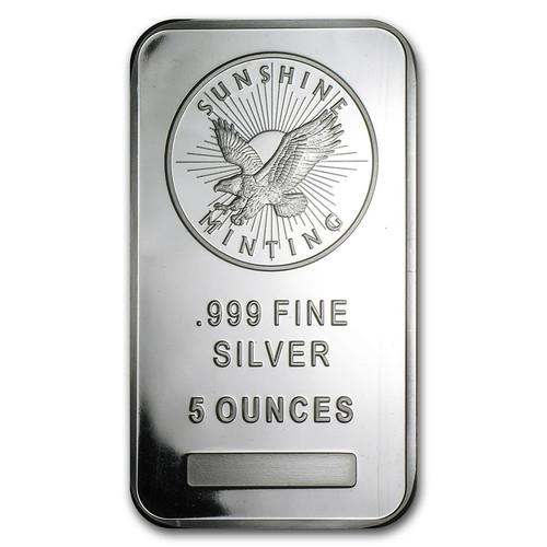 Sunshine Mint 5 oz Silver Bar