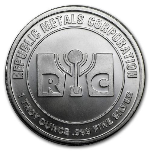 Republic Metals Corporation 1 oz Silver Round