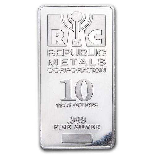 Republic Metals Corporation 10 oz Silver Bar