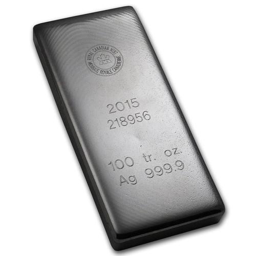 Royal Canadian Mint 100 oz Silver Bar