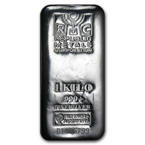 Republic Metals Corporation 1 kilo Silver Bar