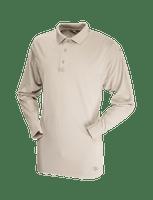 Tru-Spec Men's Long Sleeve Performance Polo - Silver Tan