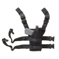 Blackhawk Nylon Omega VI Improved Universal Ambidextrous Drop-Leg Holster - Black