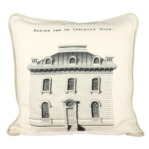 Design for an Isolated Villa Ox Bow Pillow
