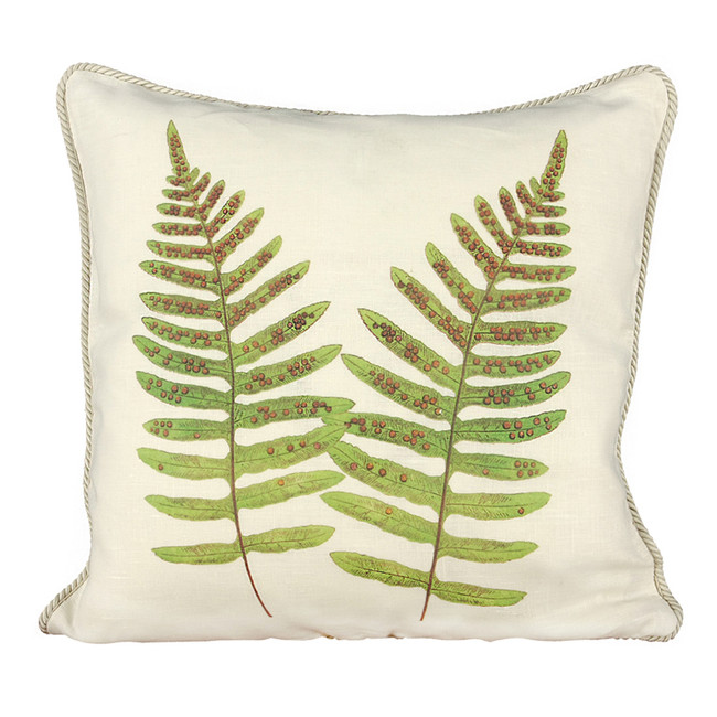 Pen of the Sea Fern Ox Bow Pillow