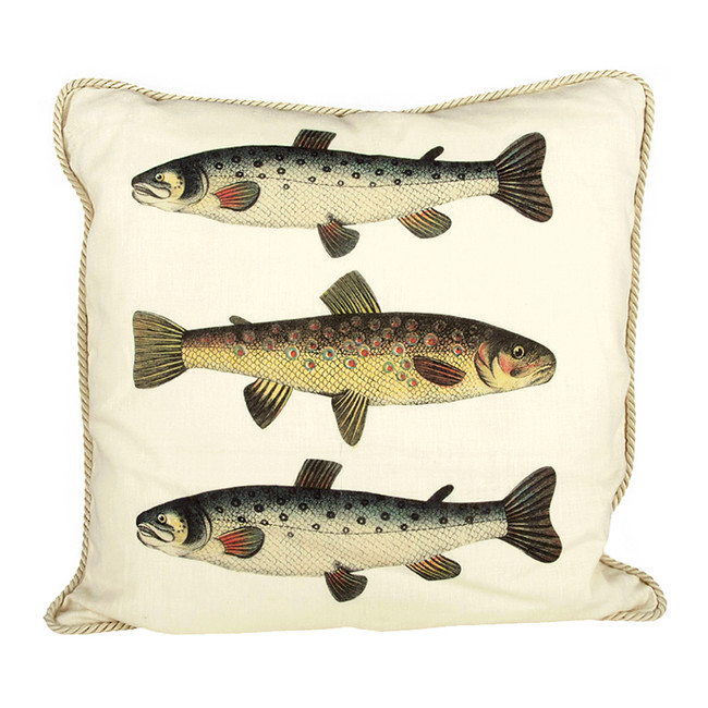 Salmon and Trout Ox Bow Pillow
