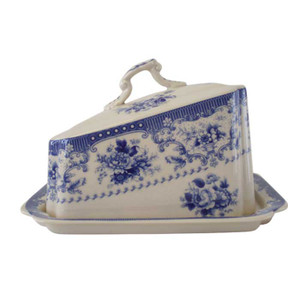 Powell Craft - Blue Rose China Cheese Dish