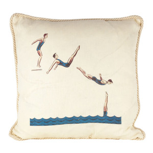 Back Jack Knife Dive Ox Bow Linen Pillow