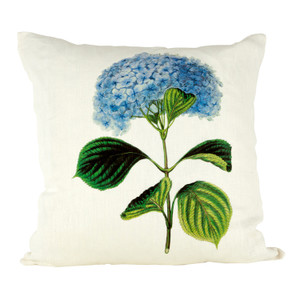 Hydrangea Ox Bow Linen Pillow