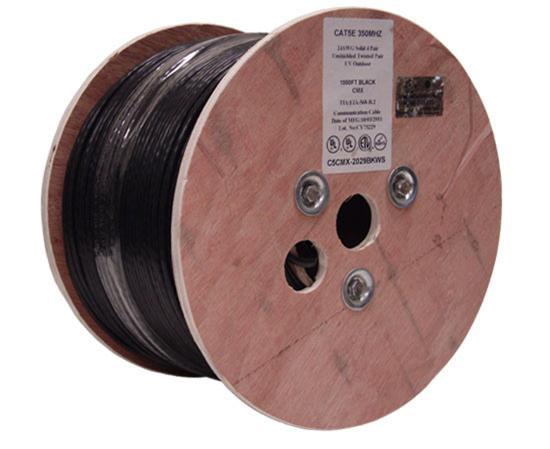 Primus Cable CAT6 Direct Burial, Gel Filled, 1000' Spool, Black, C6CMXF-2044BK