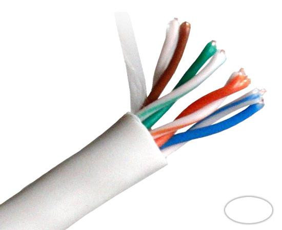 Primus Cable CAT5E Outdoor, UV, 1000ft, White, C5CMX-2267WH