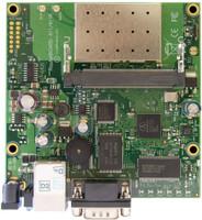 MikroTik 300Mhz CPU, 64MB, 802.11b/g, 1 LAN, 1 miniPCI, LVL 4 OS, RB/411AR