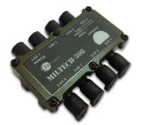 Techaya Ultra Compact Military USB Hub, 8 port, MILTECH306