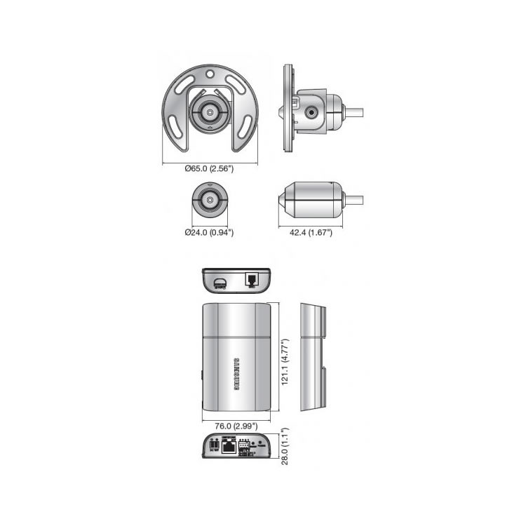 Samsung SNB-6010 Covert Camera, dimensions
