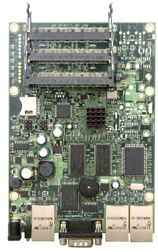 MikroTik 3 Port 680MHz With Serial Port RouterBoard, RB433AH