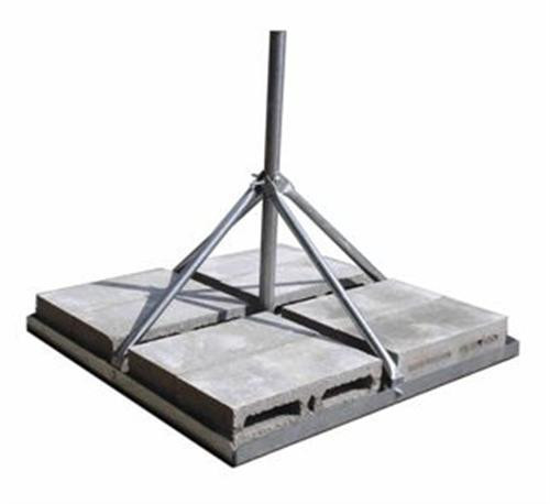 "Rohn, Flat Roof Mount, Single Mast, 2.5', 1.50"" OD, FRM-150, Non-Penetrating"