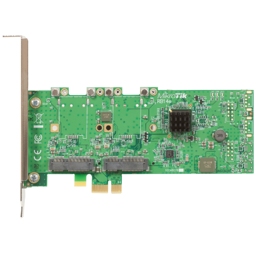 MikroTik Four Slot miniPCIe-PCIe Adapter, RB14e