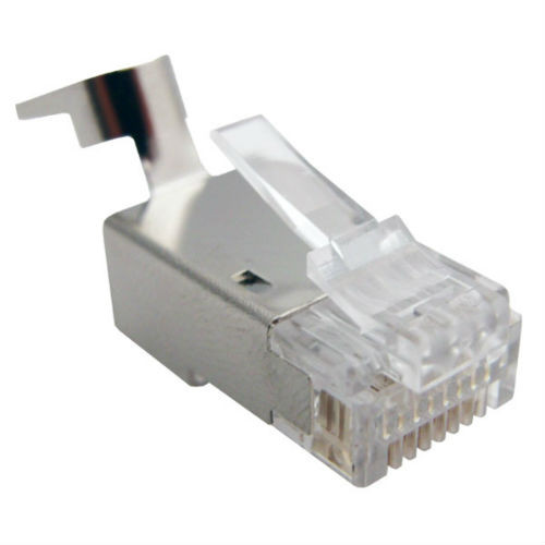 Primus Cable Shielded RJ45 Connector for CAT6, CAT6A Solid and Stranded Cable, CN1-021-8C6SH