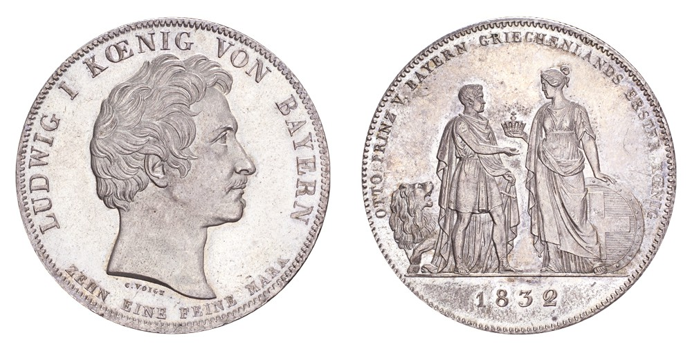 Lot 37 Germany: Bavaria Ludwig I 1832 Taler