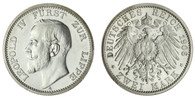 German: Lippe-Detmold Leopold IV 1906-A Proof 2 Mark