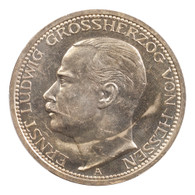 Germany: Hesse-Darmstadt Ernst Ludwig 1910-A Proof 3 Mark