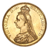 Great Britain Victoria 1887 Gold 5 Pounds Mint state