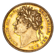 Great Britain George IV 1824 Gold Sovereign Near EF