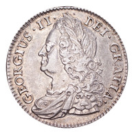 Great Britain George II 1745 Half-Crown Nearly extremely fine with some underlying lustre.