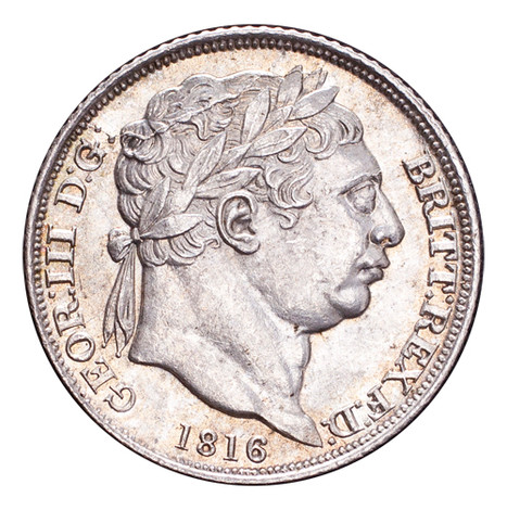 Great Britain George III 1816 Sixpence UNC