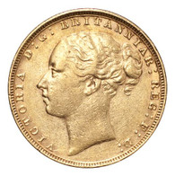 Great Britain Victoria 1879 Gold Sovereign St.George VF/GVF