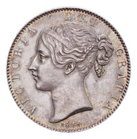 Great Britain Victoria 1845 Crown Mint state