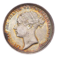Great Britain Victoria 1887 Sixpence UNC