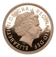 Great Britain Elizabeth II 2010 Gold 2 Pounds Proof FDC