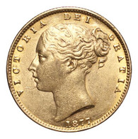 Australia Victoria 1877-S Gold Sovereign AEF