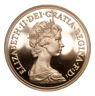 Great Britain Elizabeth II 1980 Gold 5 Pounds Proof FDC