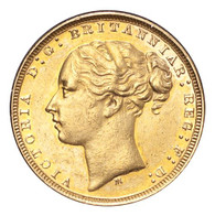 Australia Victoria 1881-M Gold Sovereign Without BP GVF
