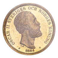 Sweden Oscar II 1884 Gold 20 Kronor PCGS MS66