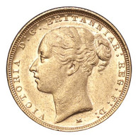 Australia Victoria 1887-M Gold Sovereign St.George AEF