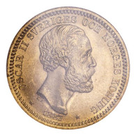 Sweden Oscar II 1887 Gold 20 Kronor NGC MS65