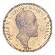 Sweden Oscar II 1874 Gold 10 Kronor PCGS MS66